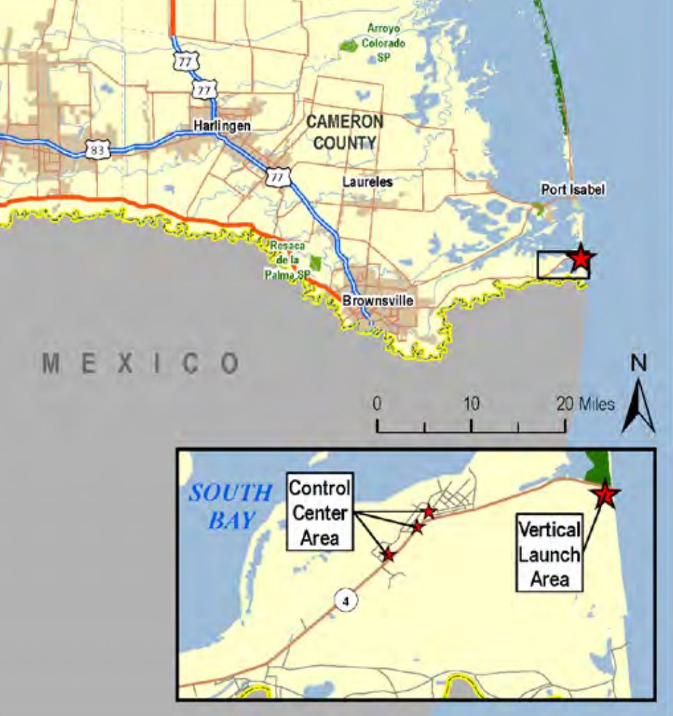 SpaceX Boca Chica map