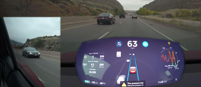 Tesla Version 9 Real World Blind Spot Test Shows Autopilot