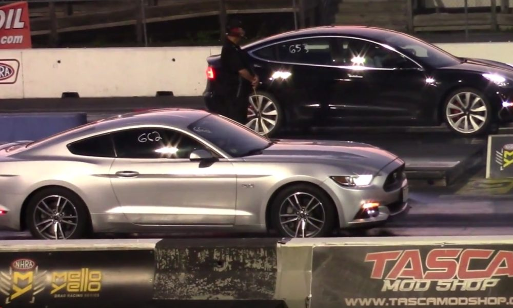 Tesla Model 3 Performance dominates Ford Mustang GT twice ...