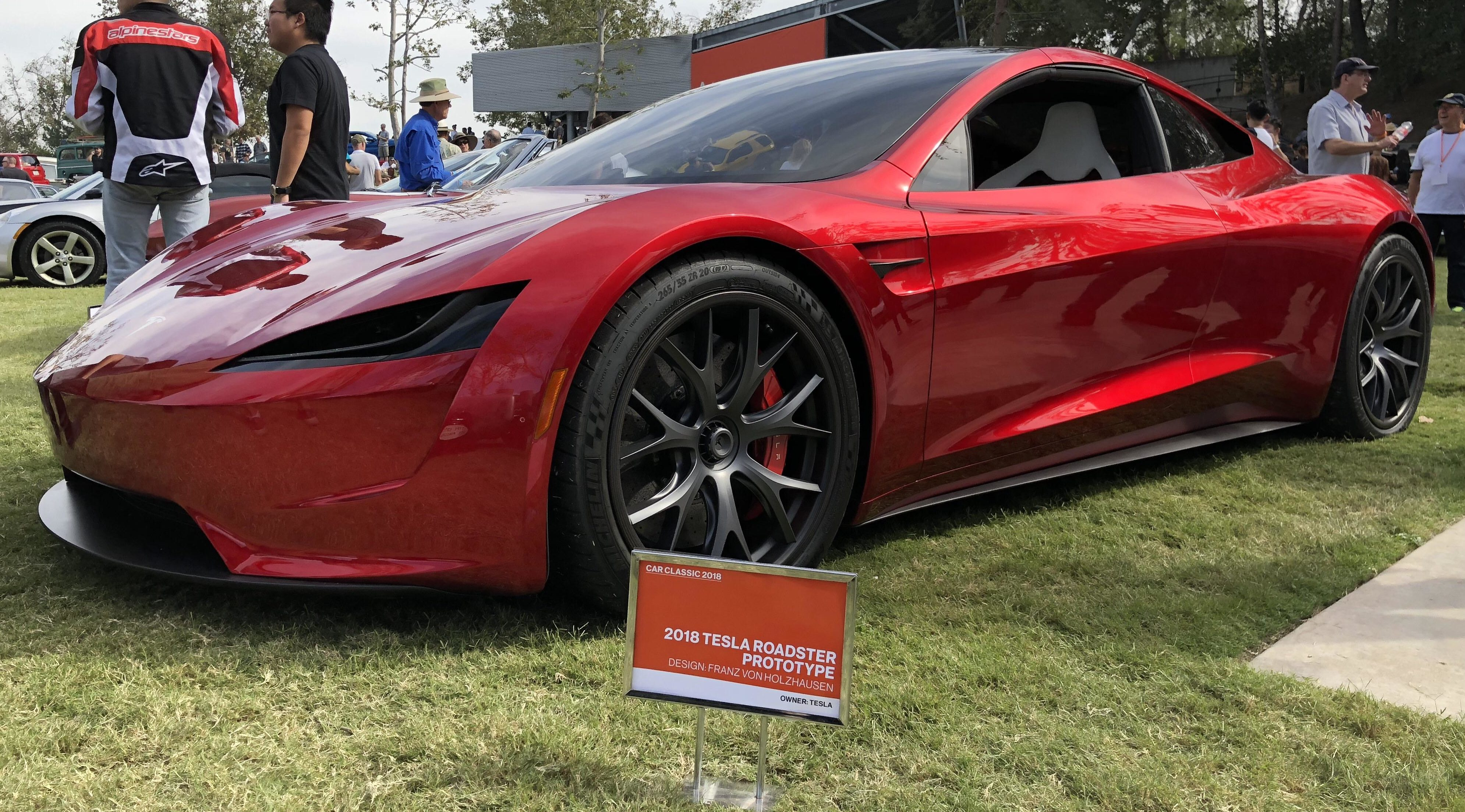 Tesla's next-gen Roadster stuns crowd at famed ArtCenter in