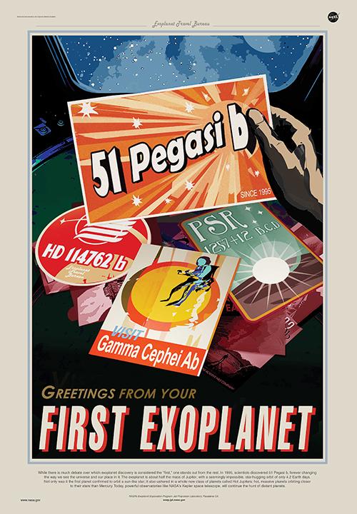 51 Pegasi b Travel Poster.