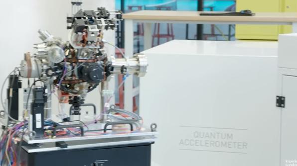 Quantum accelerometer in the lab.