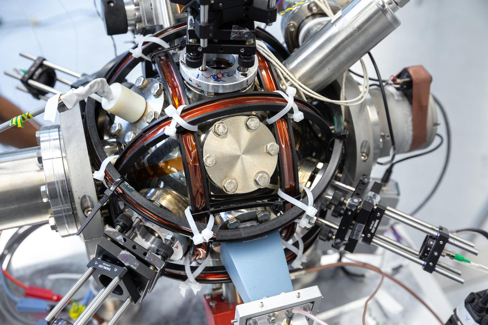 The quantum accelerometer. | Credit: Imperial College London