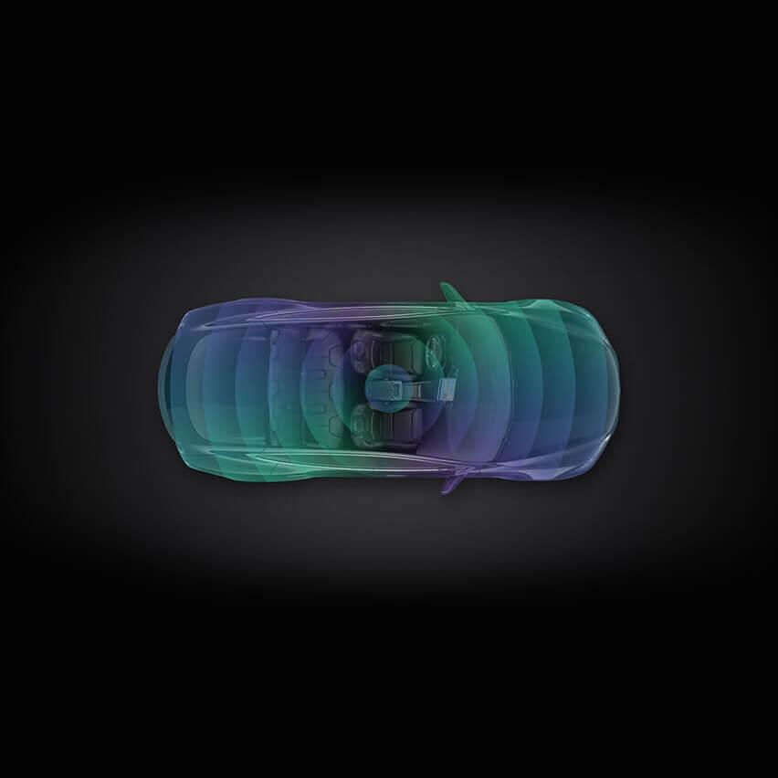Tesla anti-theft sensor visual.