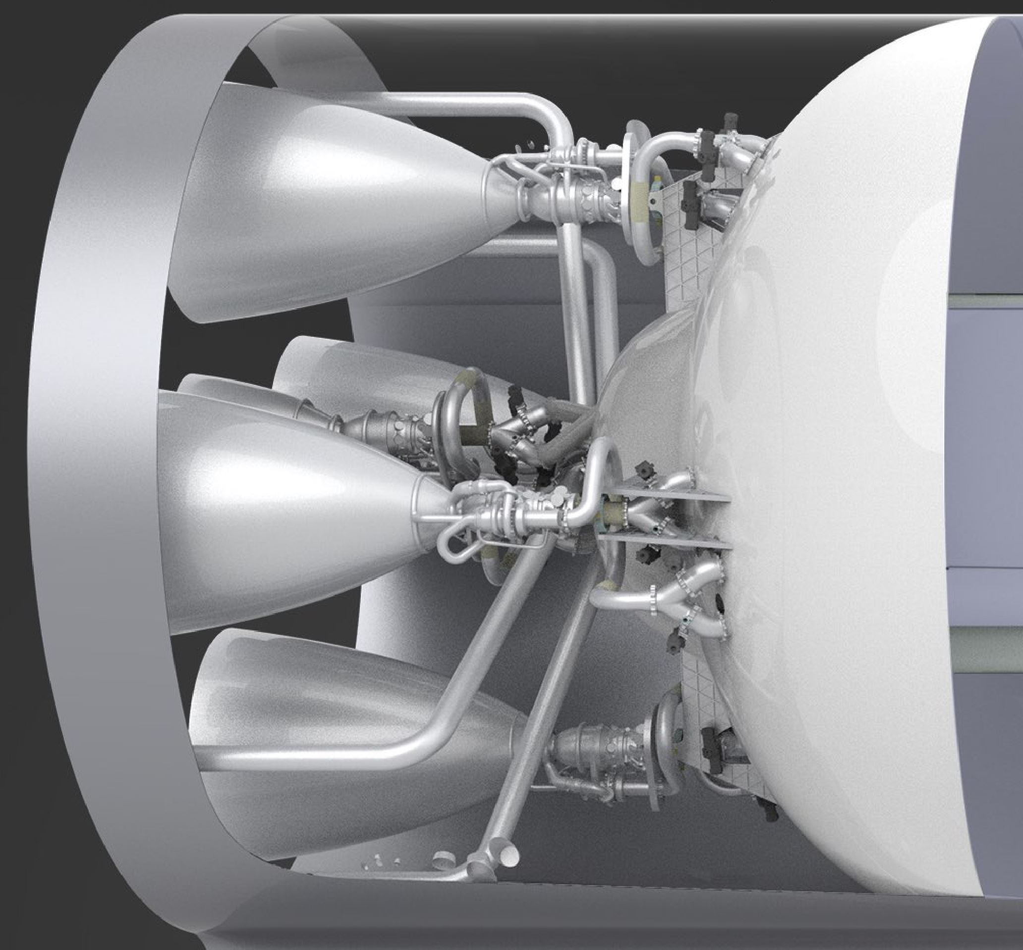 BFR 2017 spaceship engine section