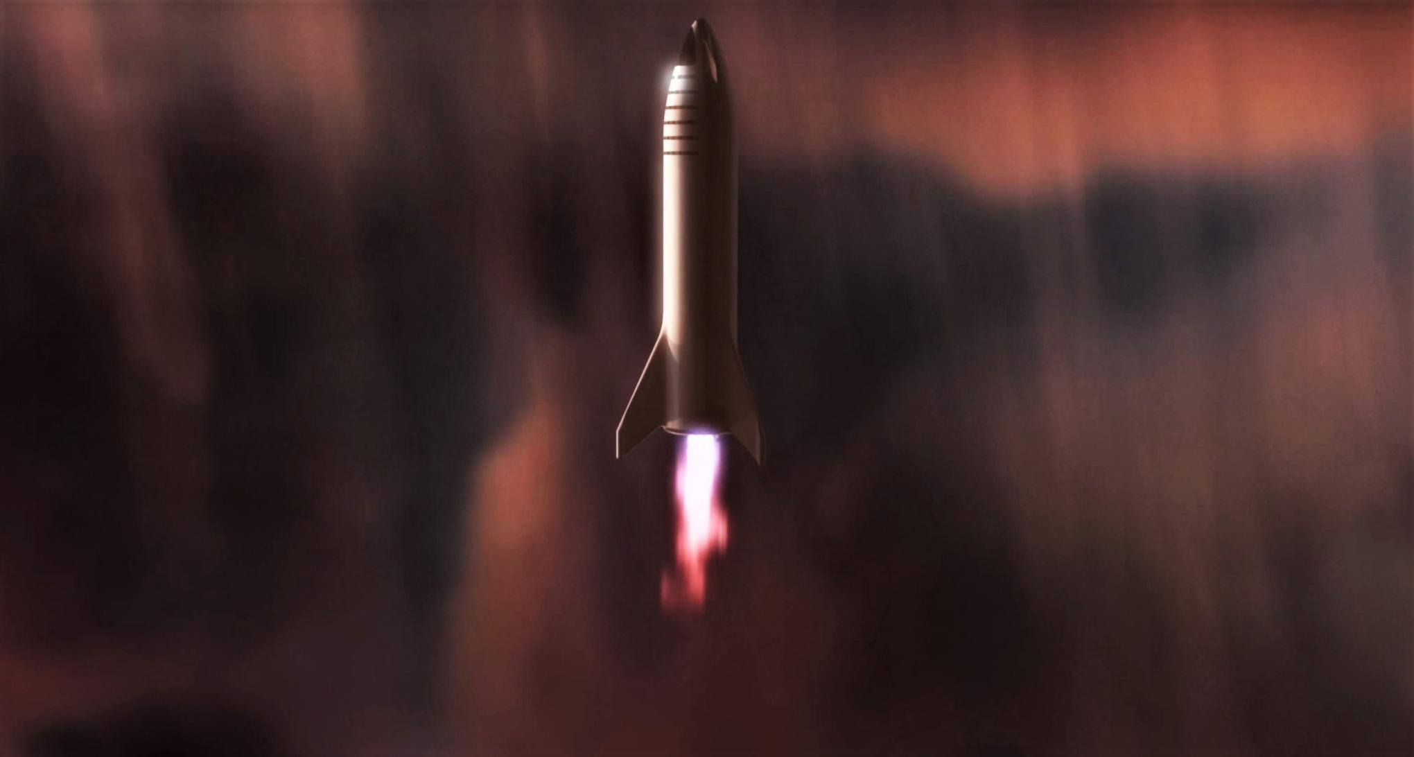BFR 2018 Mars reentry (SpaceX) 5