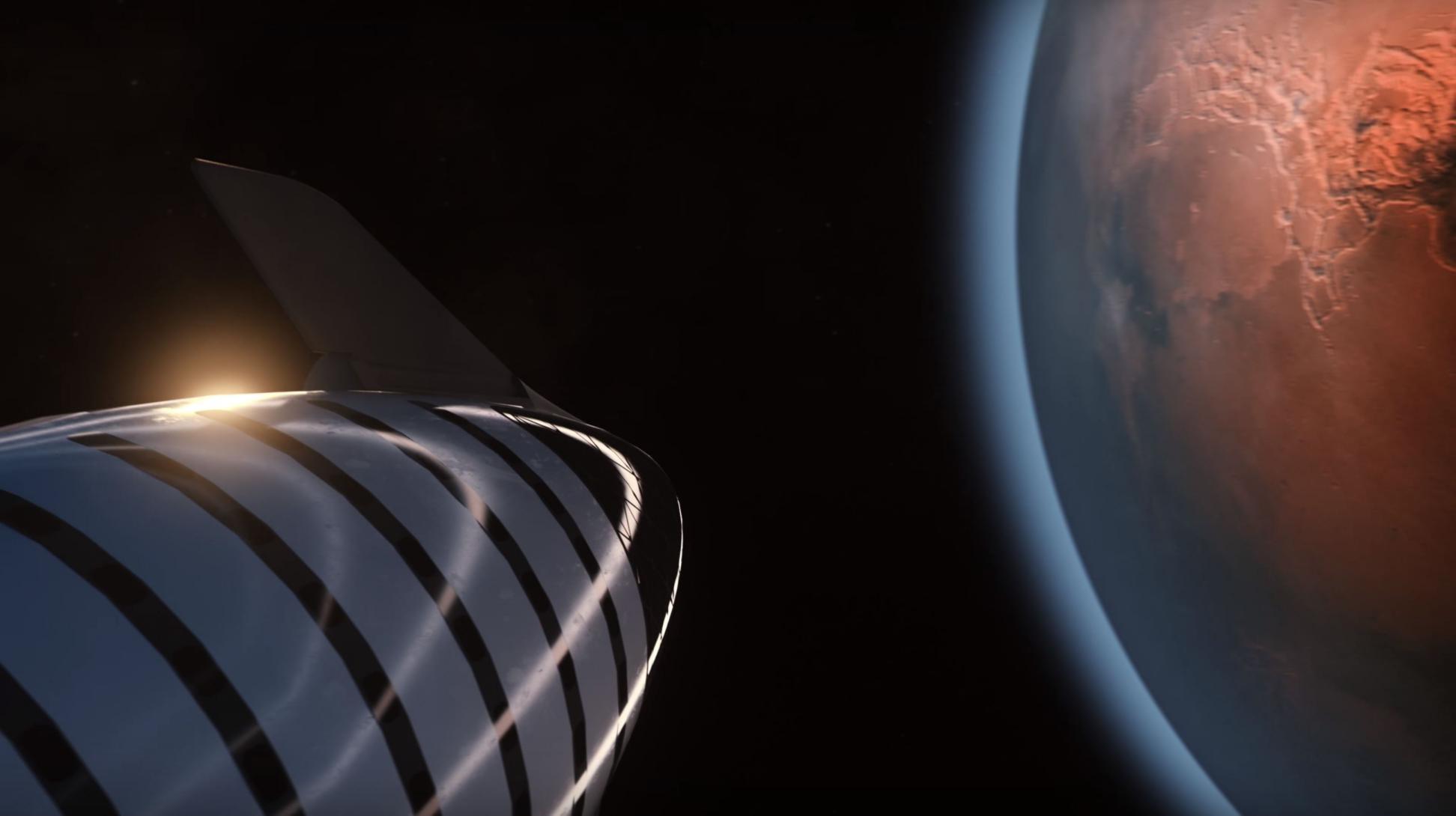 BFR 2018 spaceship Mars (SpaceX) 1(c)