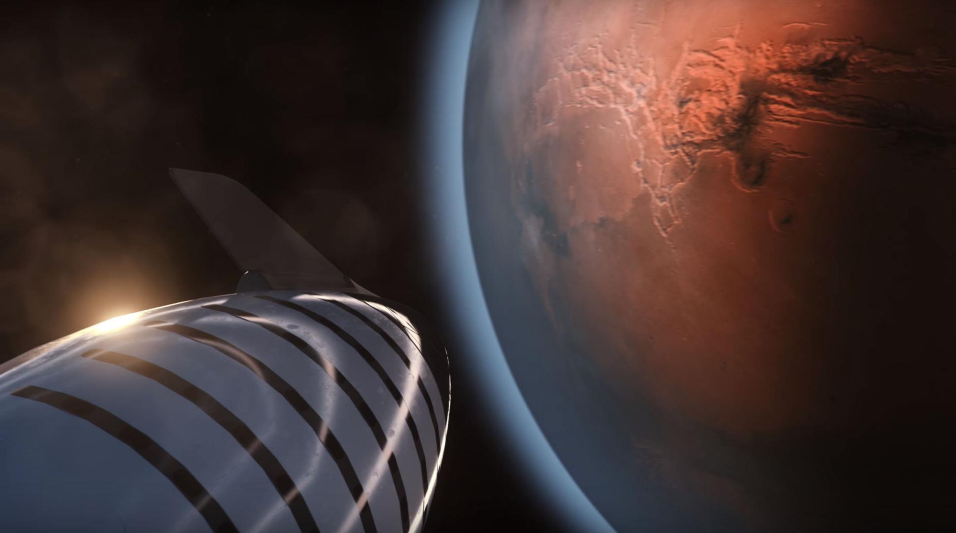 BFR 2018 spaceship Mars (SpaceX) 2(c)