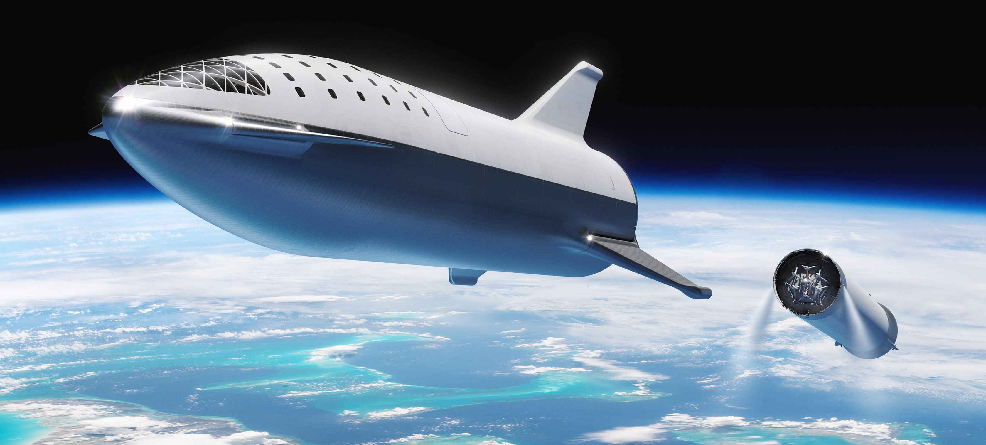BFR 2018 spaceship and booster sep (SpaceX) crop