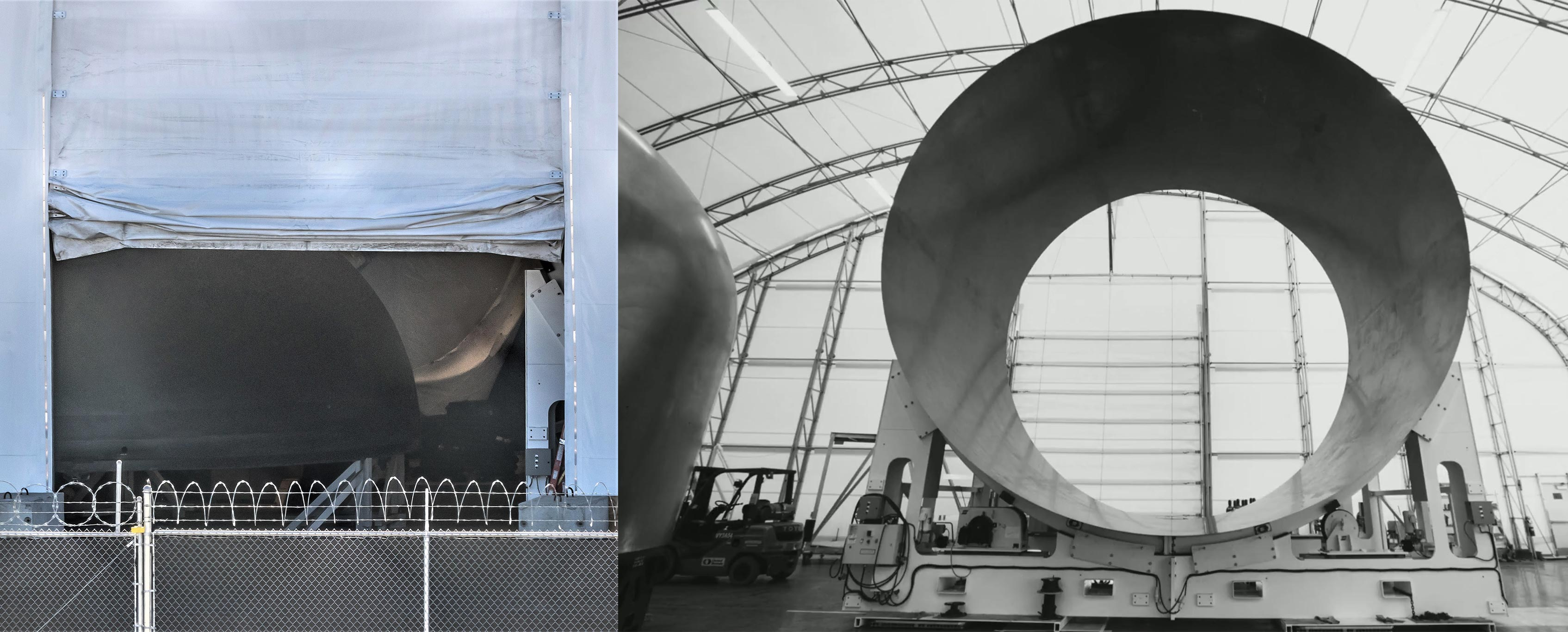 Spacex S Next Big Bfr Spaceship Part Finished In Port Of