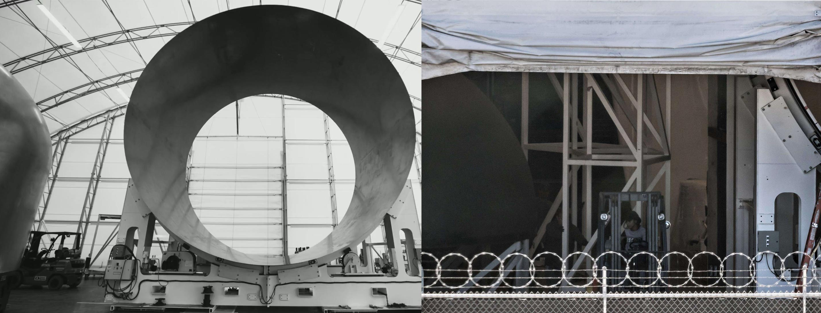 BFR spaceship dome and barrel section (SpaceX+Pauline Acalin)