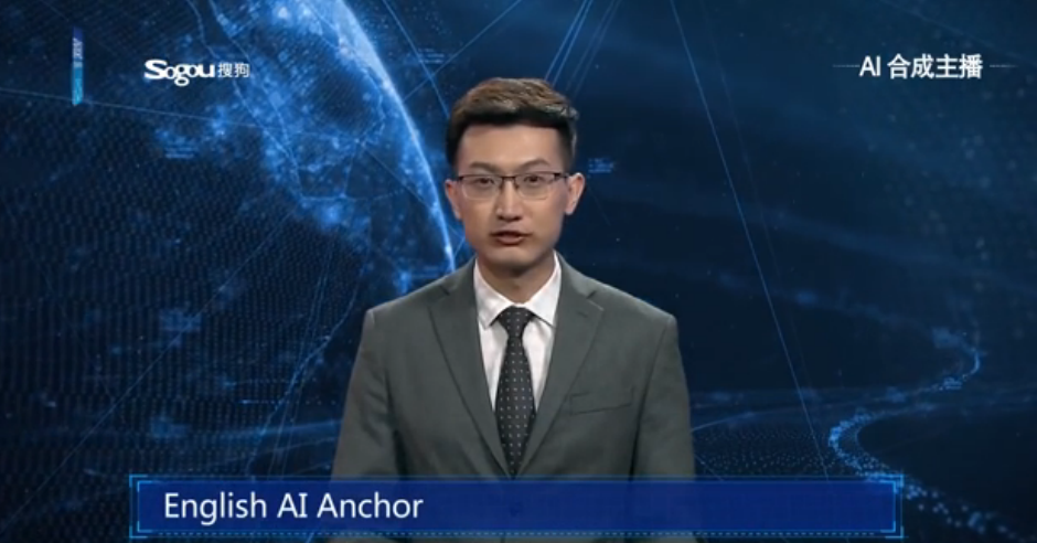 Chinese AI anchor | Credit: Xinhua News Agency