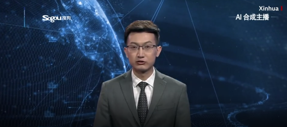 Chinese state AI anchor.