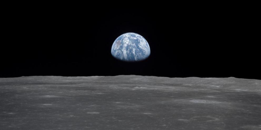 Earth Moon Rise