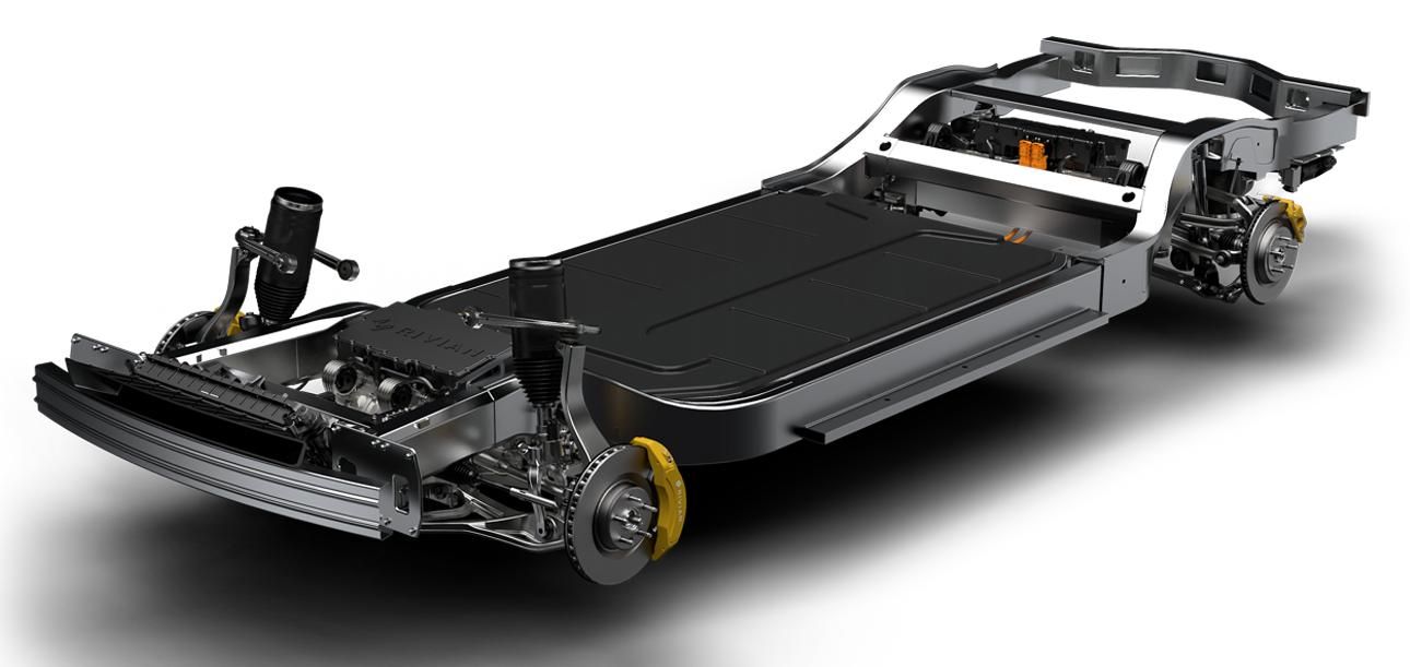 Rivian Skateboard Platform EV Truck Teslarati