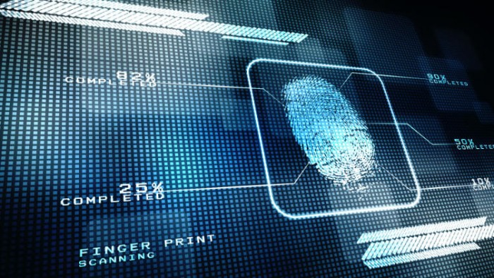 Electronic fingerprint scan.