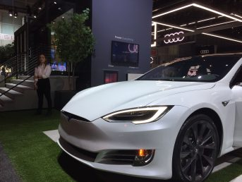 First look at Tesla's booth at the 2018 LA Auto Show