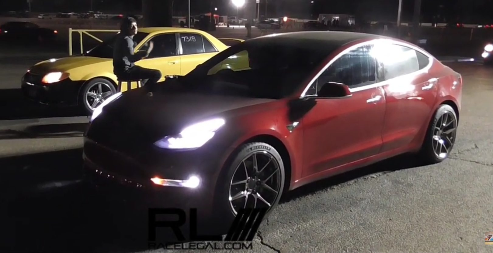 Stealthy Tesla Model 3 Bullies Muscle Cars And Tuned Imports In