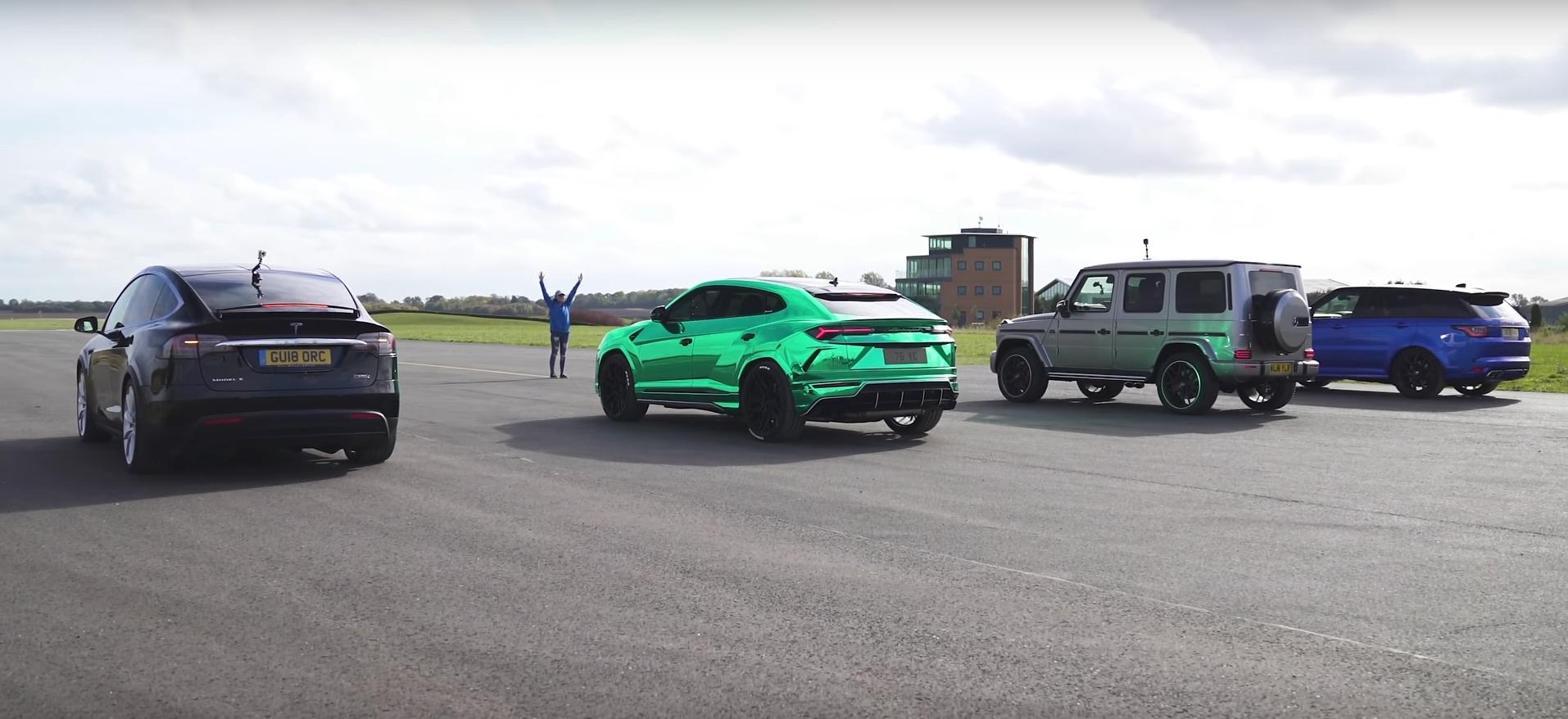 Tesla Model X humbles Lamborghini Urus and Mercedes,AMG G63