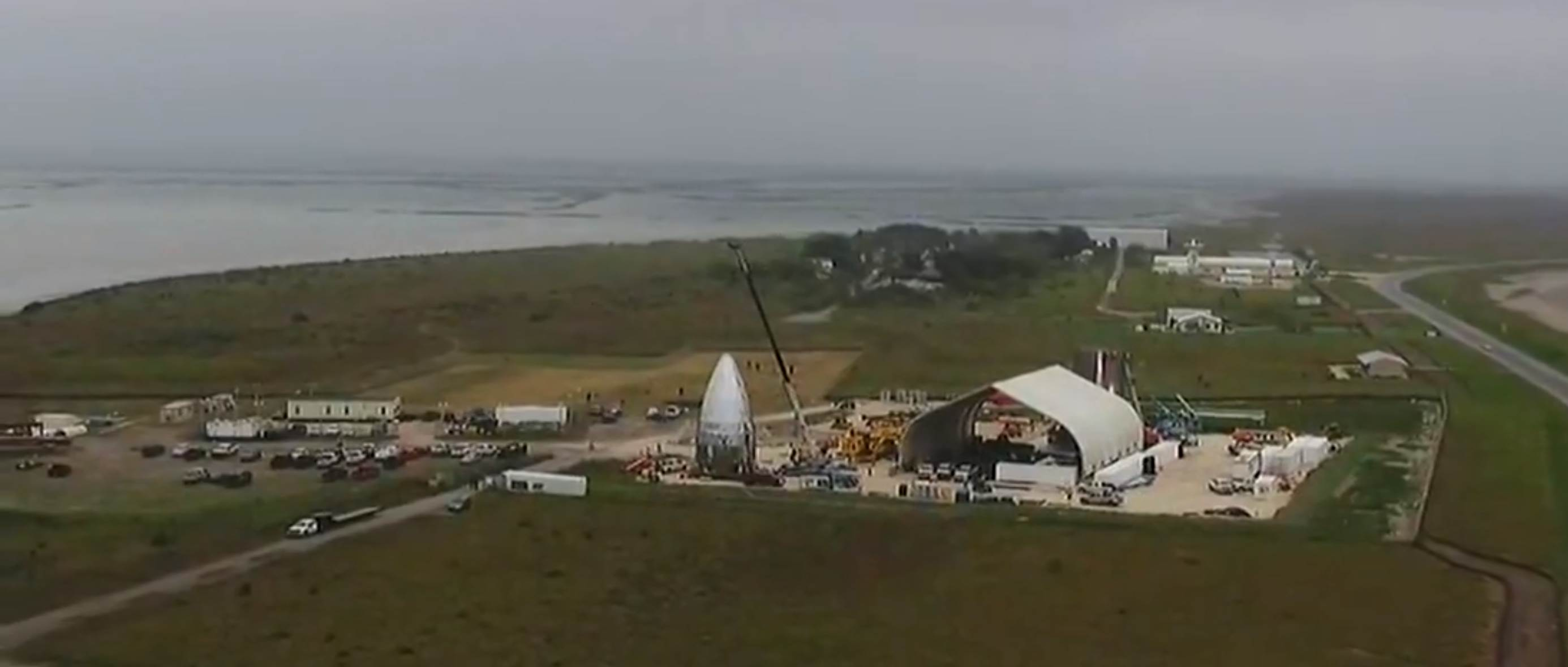 Boca Chica Starhopper progress overview 122818 (CBS4RGV) 5