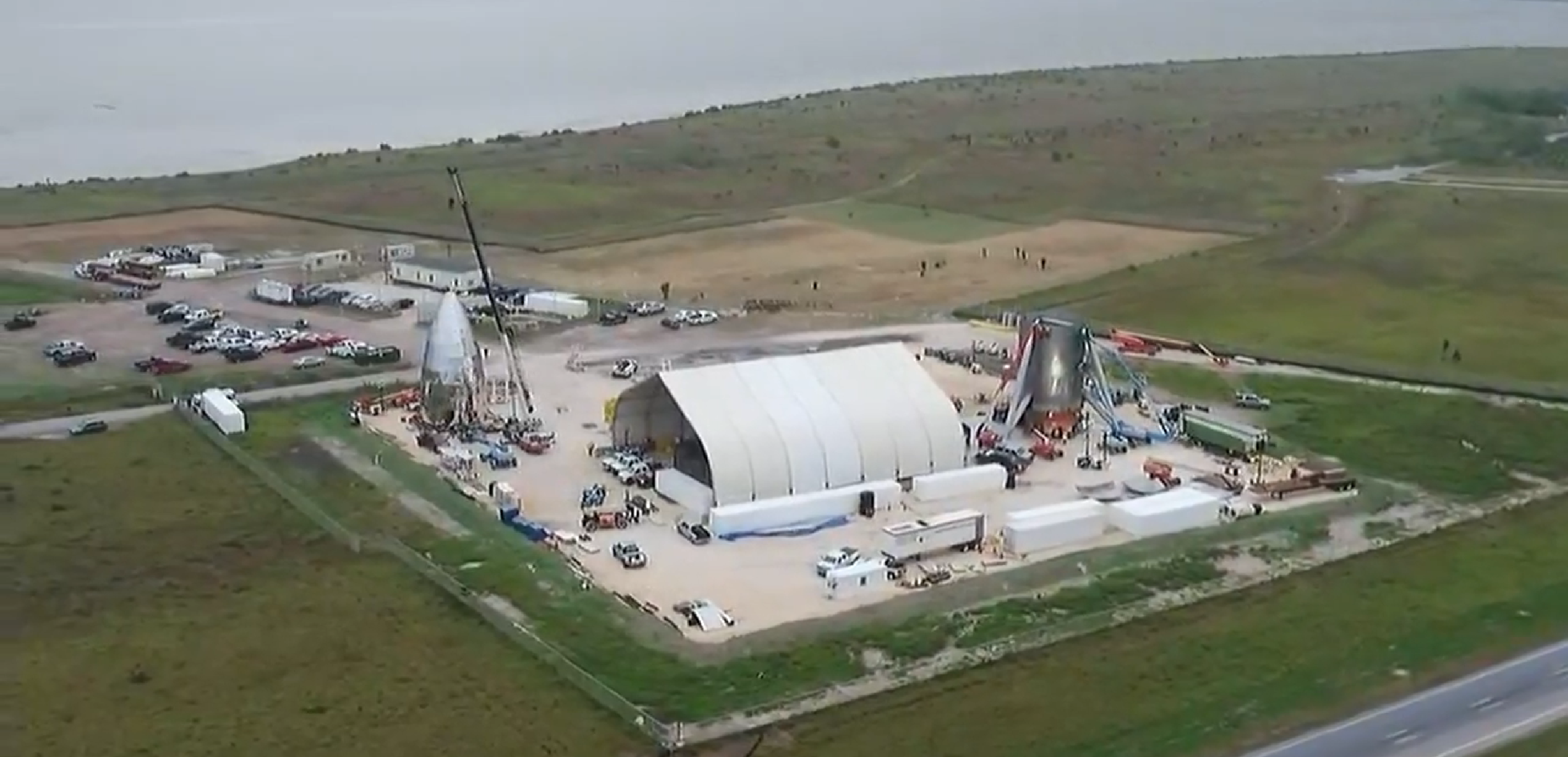 Boca Chica Starhopper progress overview 122818 (CBS4RGV) 9