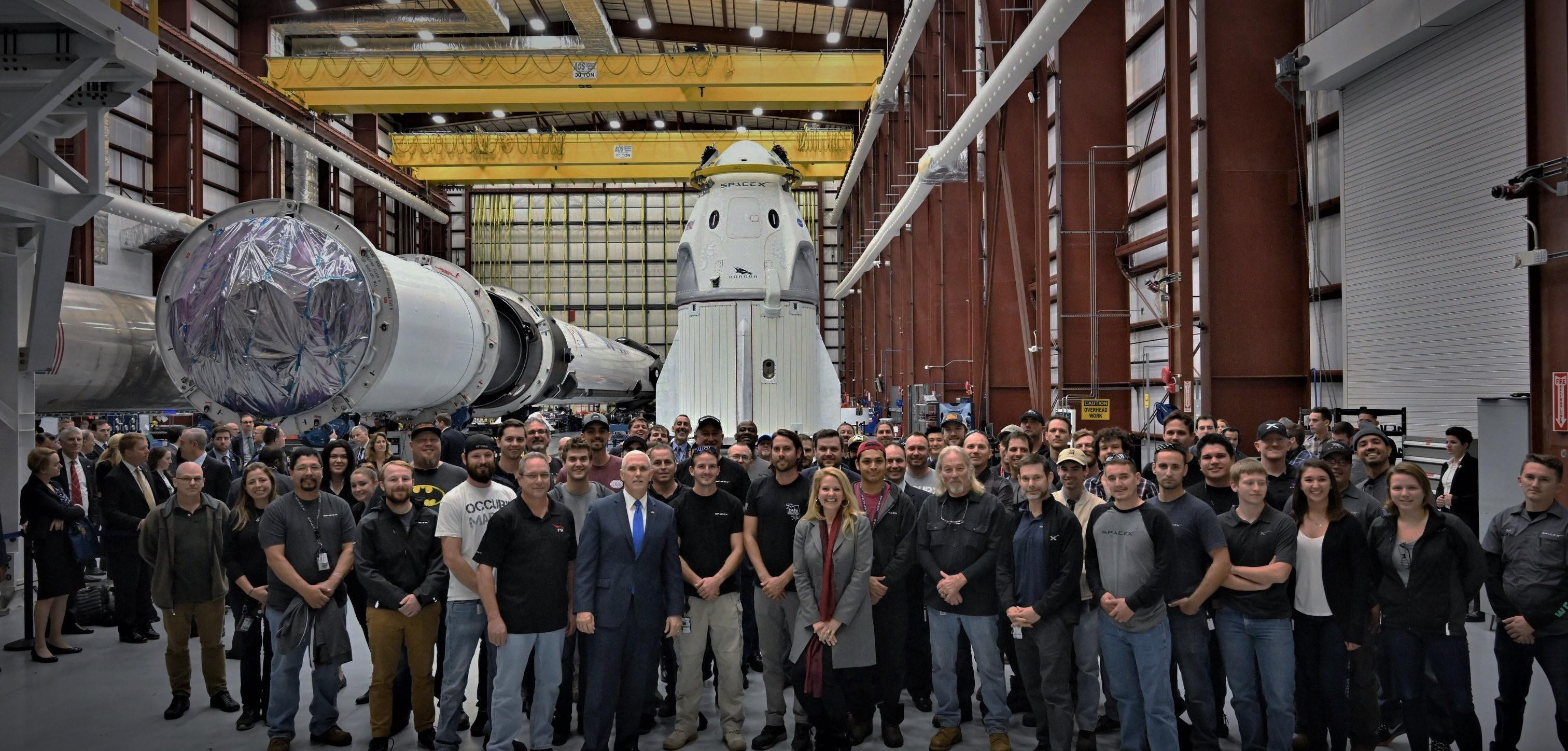 Crew Dragon DM-1 and Falcon 9 B1051 39A (SpaceX) 2 crop