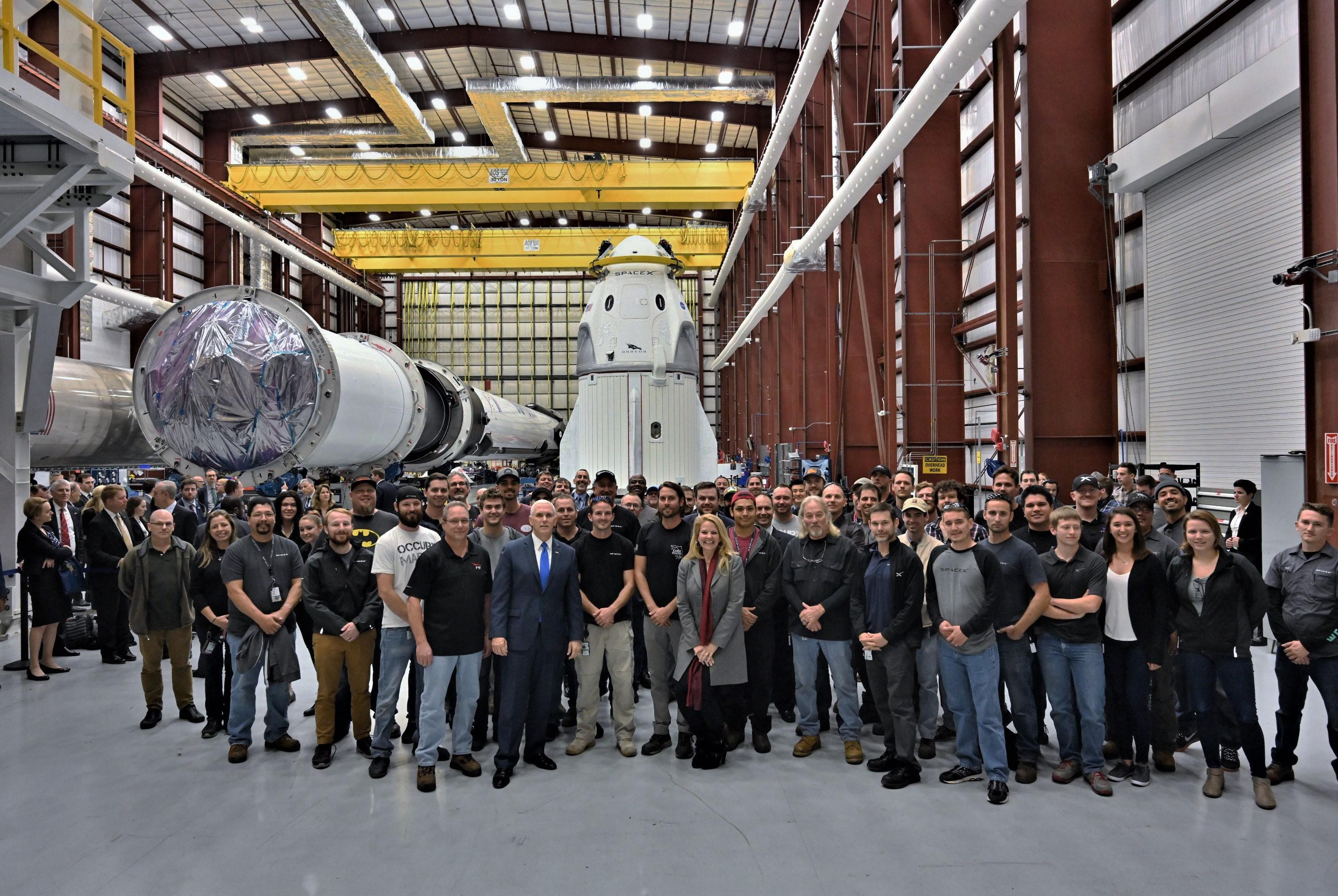 Crew Dragon DM-1 and Falcon 9 B1051 39A (SpaceX) 2