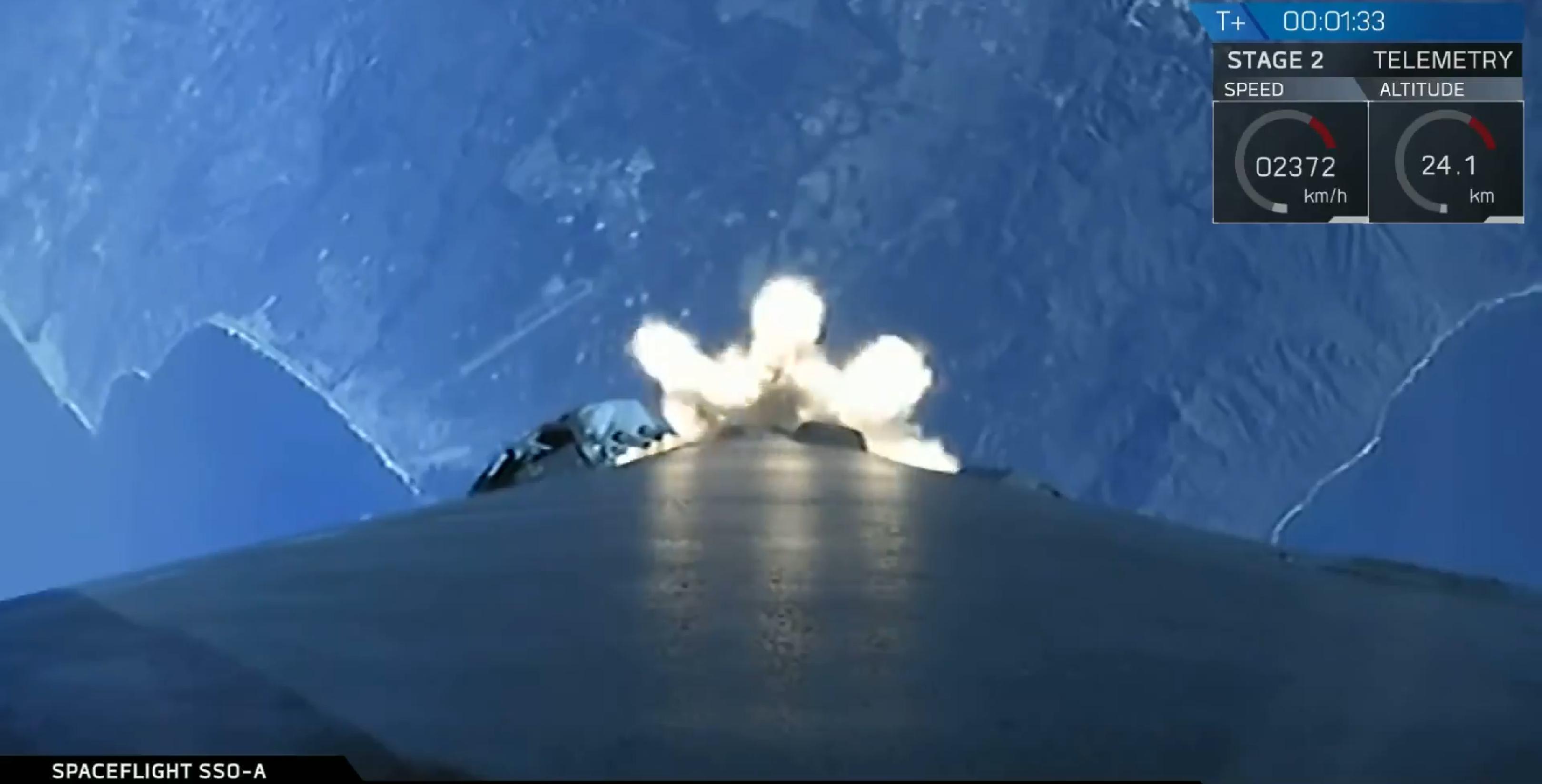 Falcon 9 B1046 SSO-A liftoff (SpaceX) 1