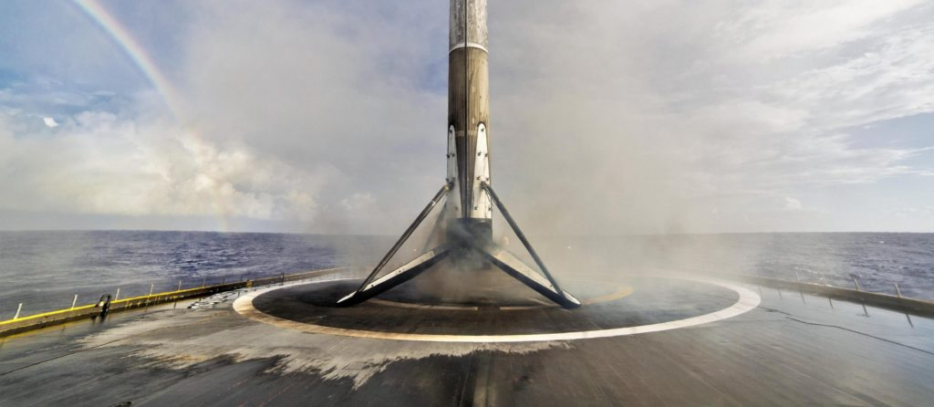 Falcon 9 B1047 seen aboard SpaceX drone ship Of Course I Still Love You. (SpaceX)