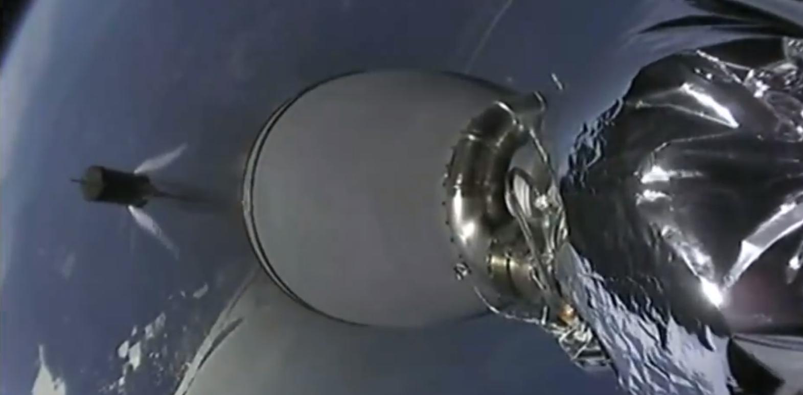 Falcon 9 B1050 CRS-16 flip maneuver (SpaceX) 1
