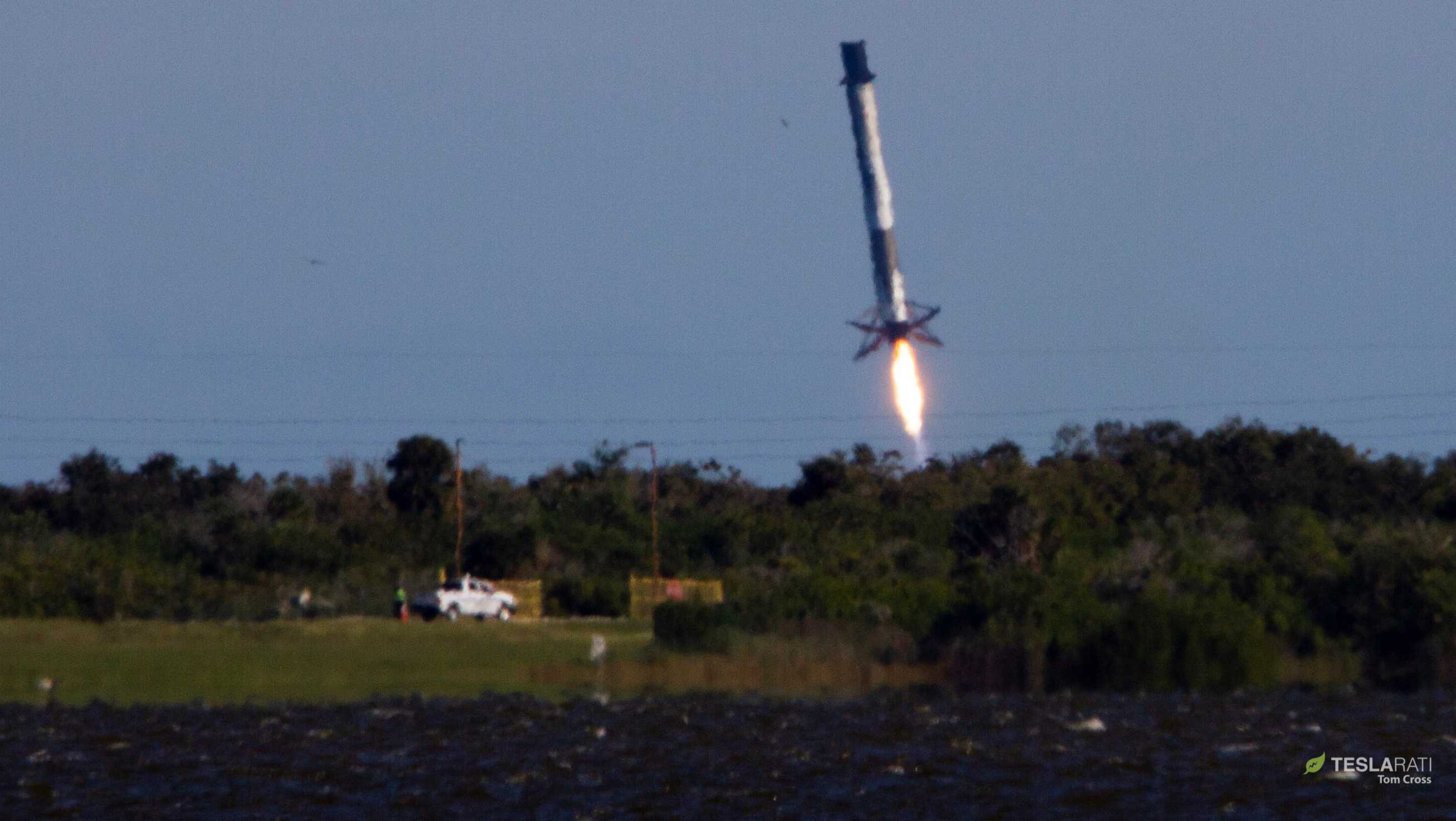 SpaceX Falcon 9 First Stage Spins Out Of Control, Lands In Ocean