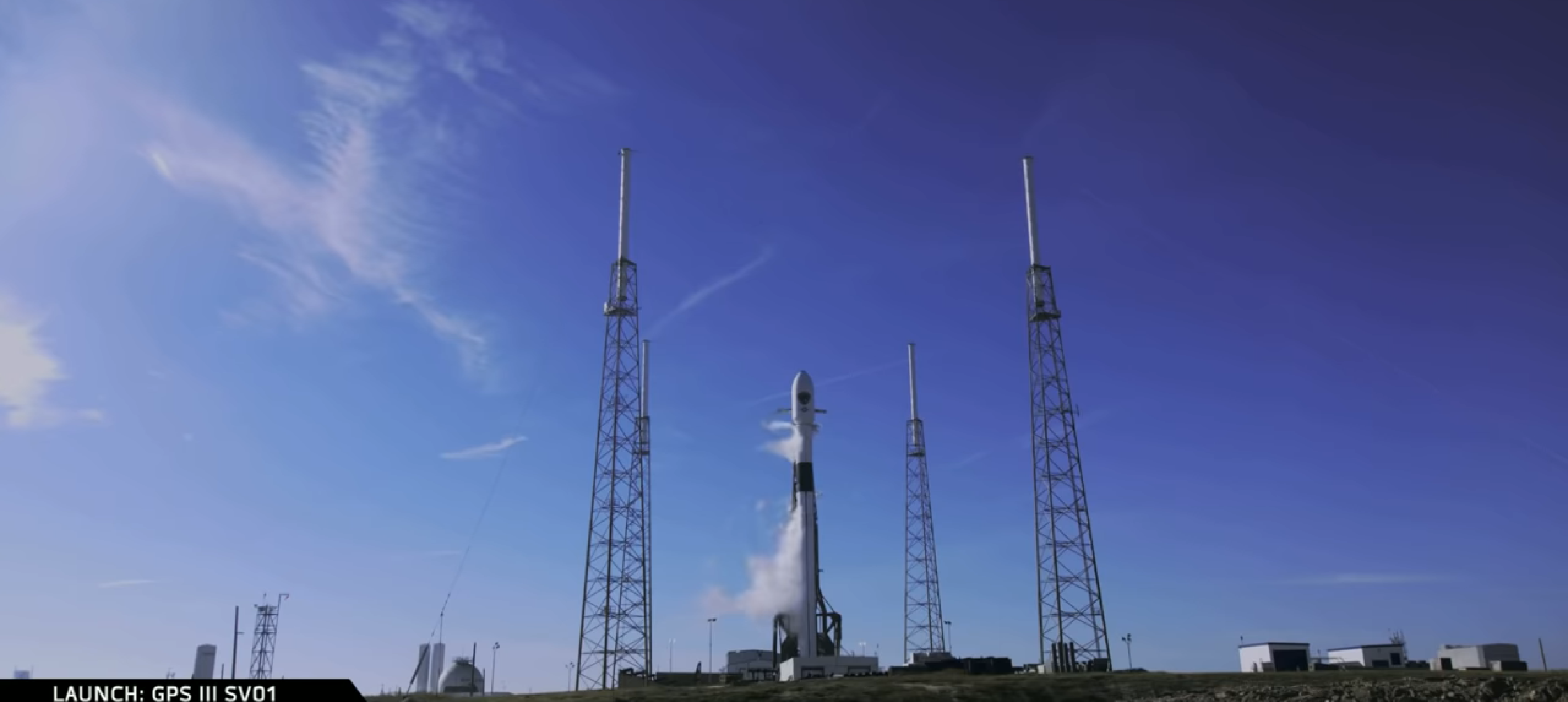 Falcon 9 B1054 GPS III SV01 prelaunch (SpaceX) 1
