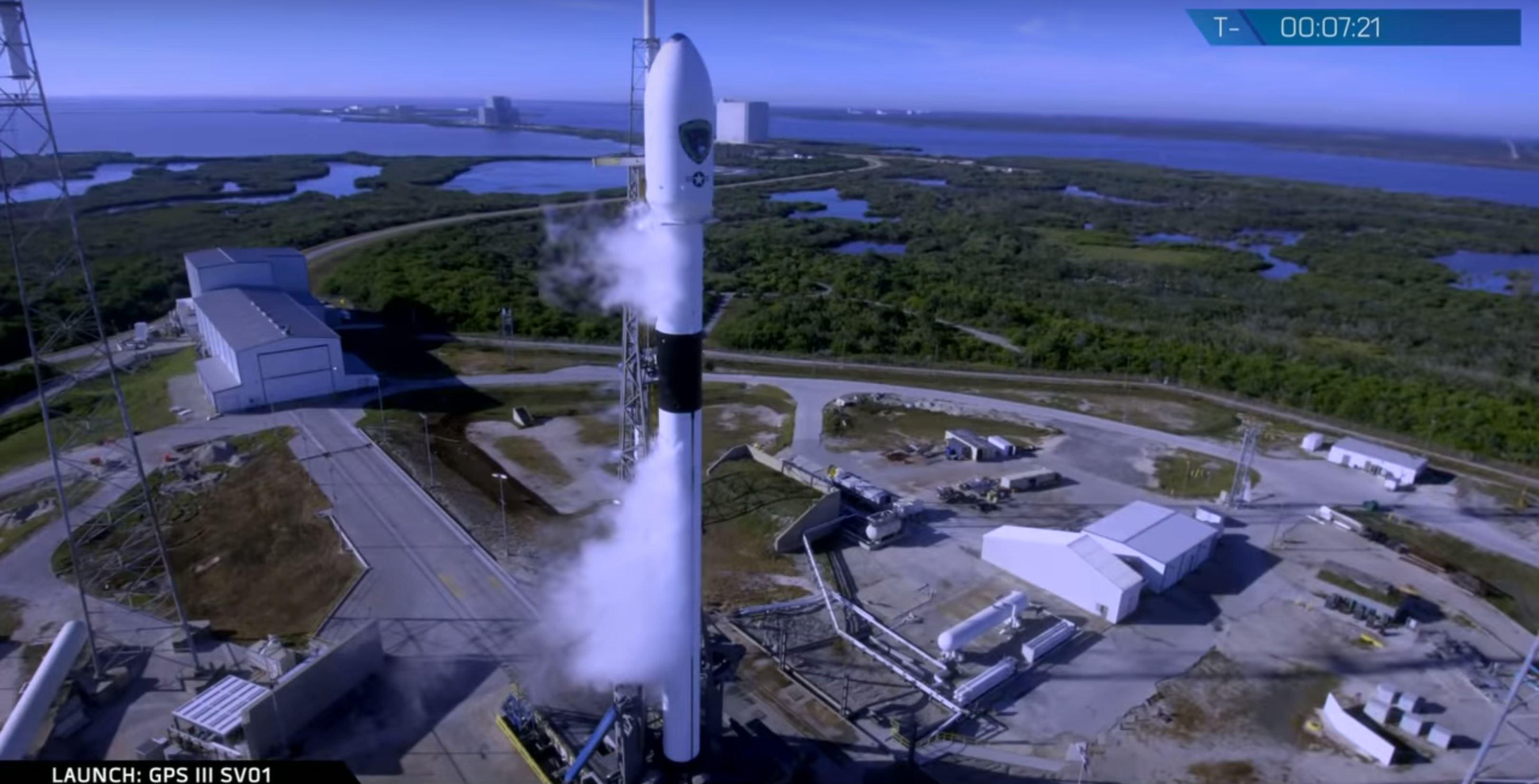 Falcon 9 B1054 GPS III SV01 prelaunch (SpaceX) 2