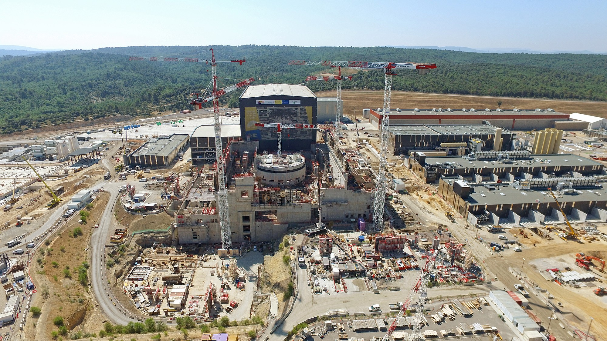 An aerial view of ITER.