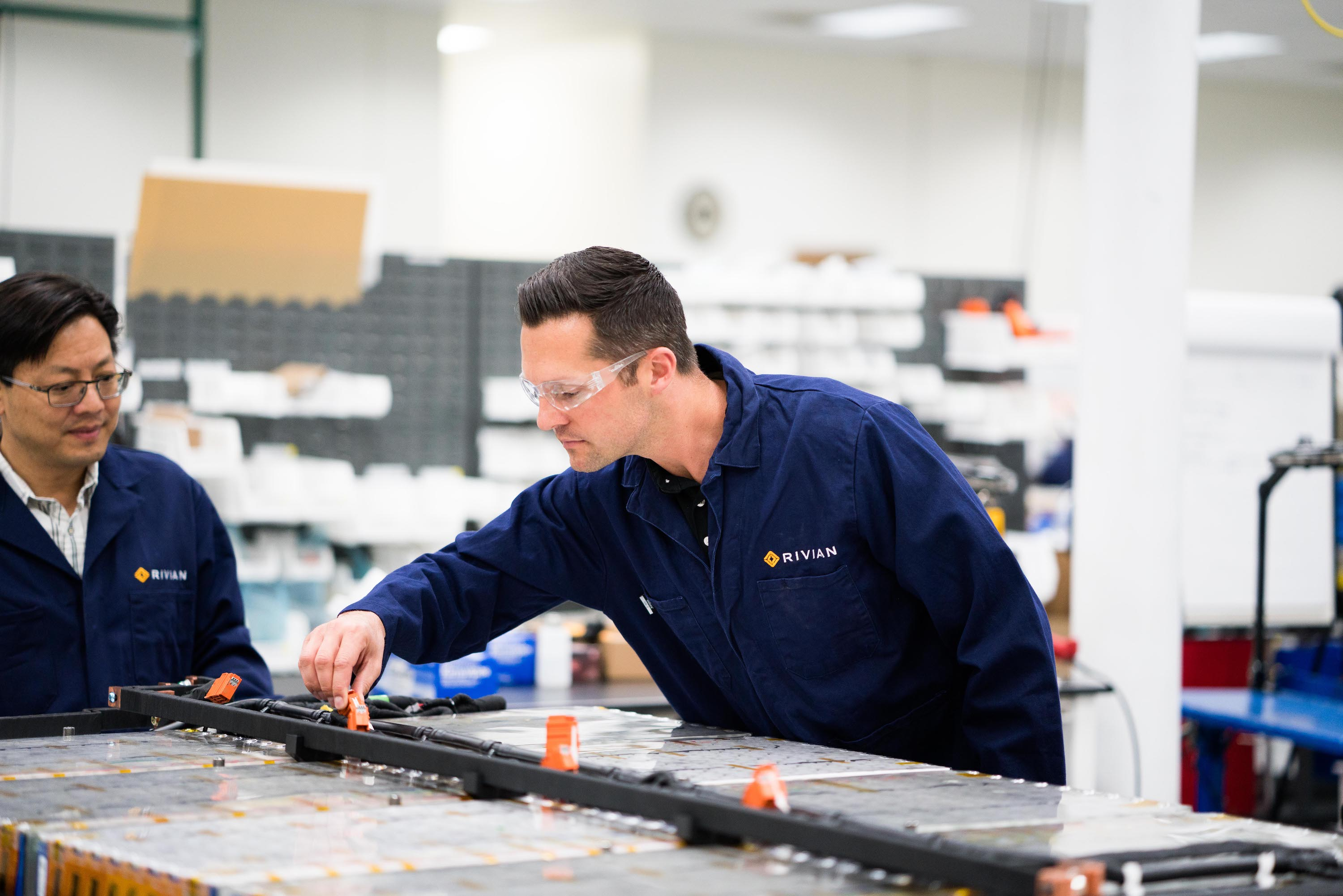 Rivian Battery Lab Pack Assembly