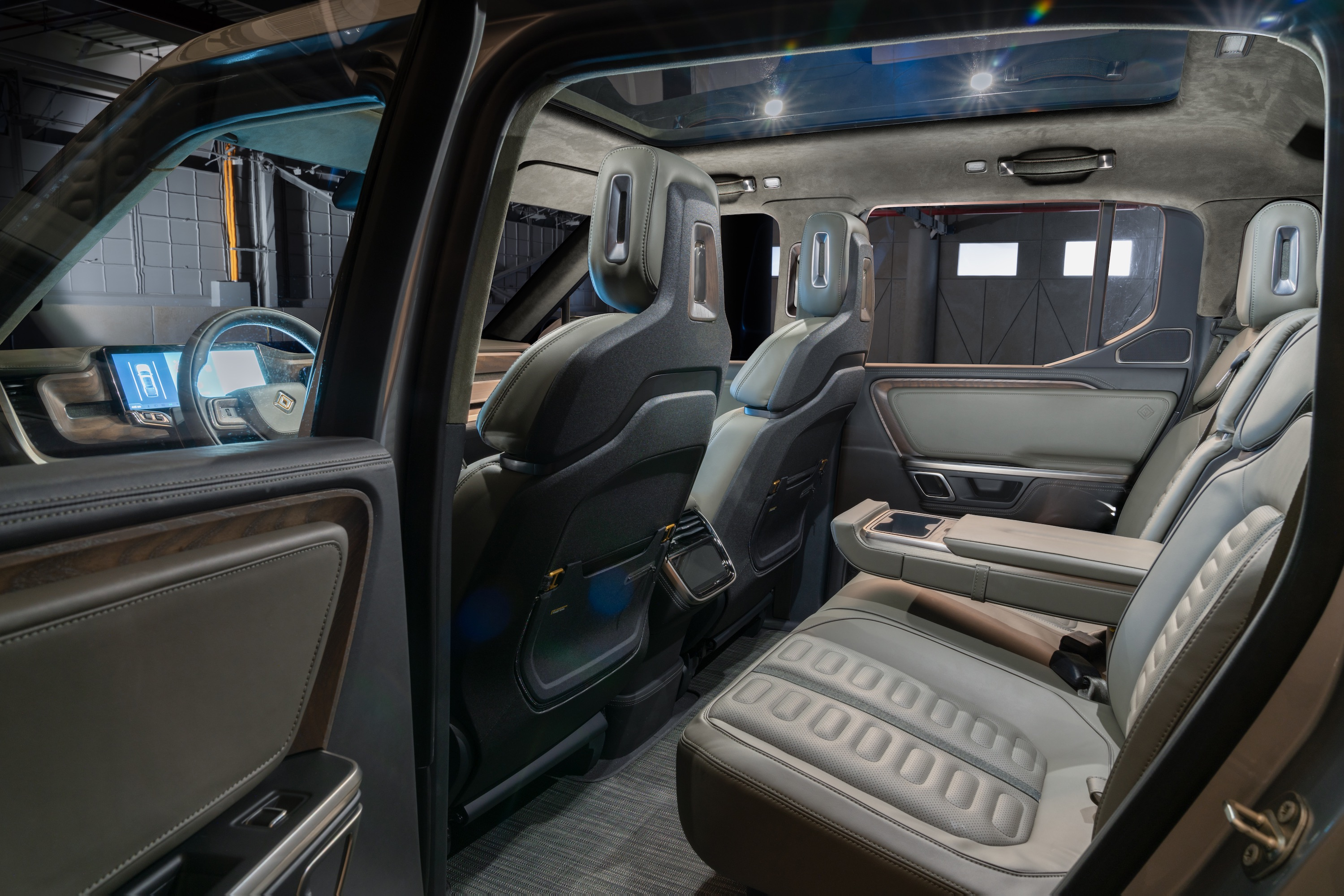 Rivian R1T Interior View Rear Seats