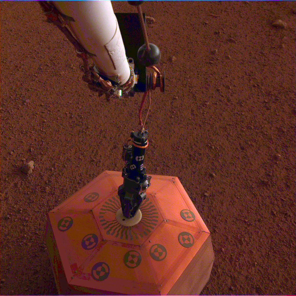 InSight Seismometer on Mars.