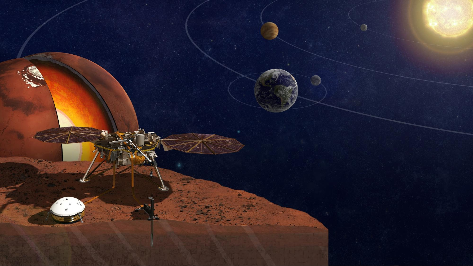 InSight lander will provide info on Earth and Mars interiors.