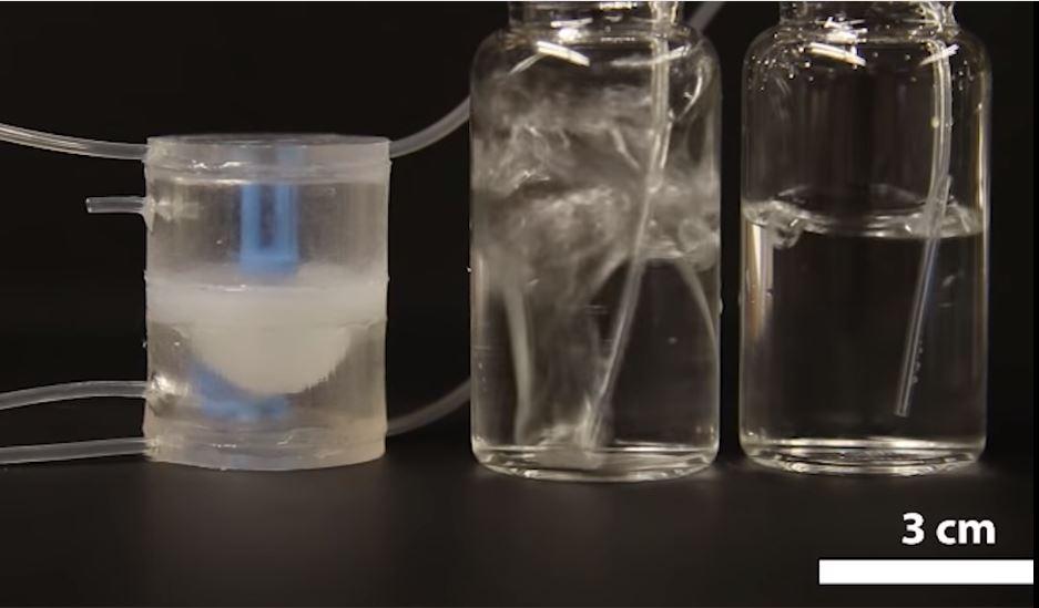 The soft robot valve.