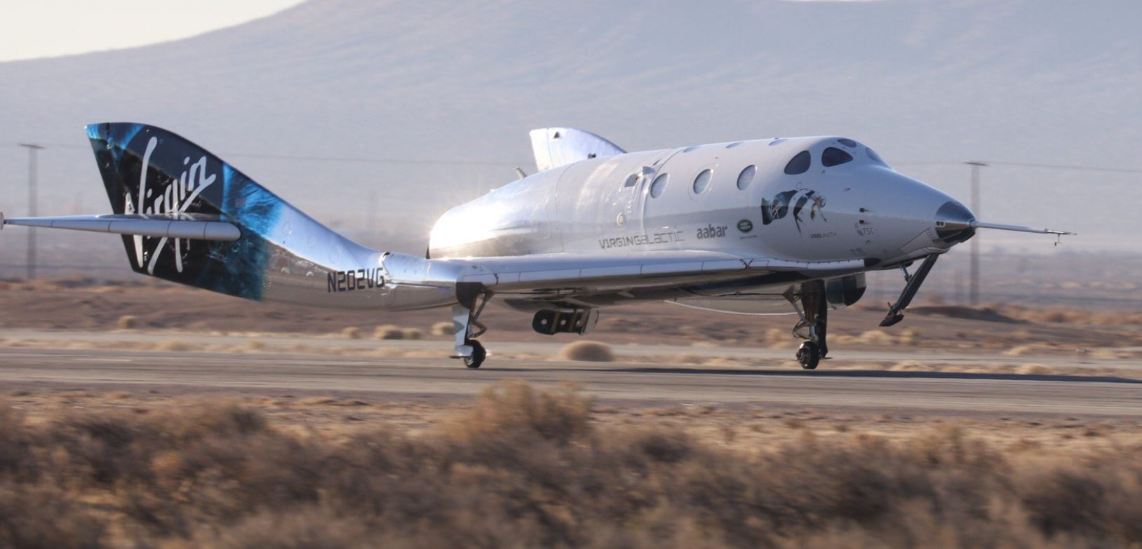 USS Unity returns from space. | Credit: Virgin Galactic