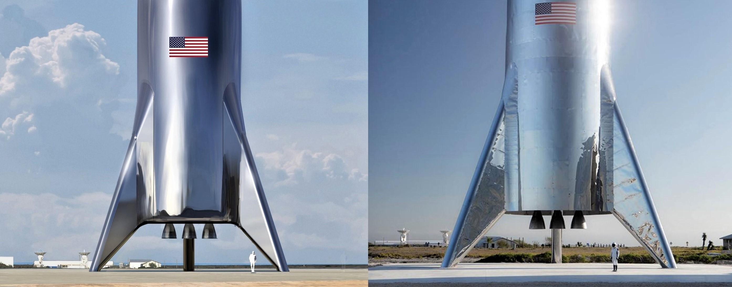 BFH BFS Starhopper render and photo (Elon Musk) 1