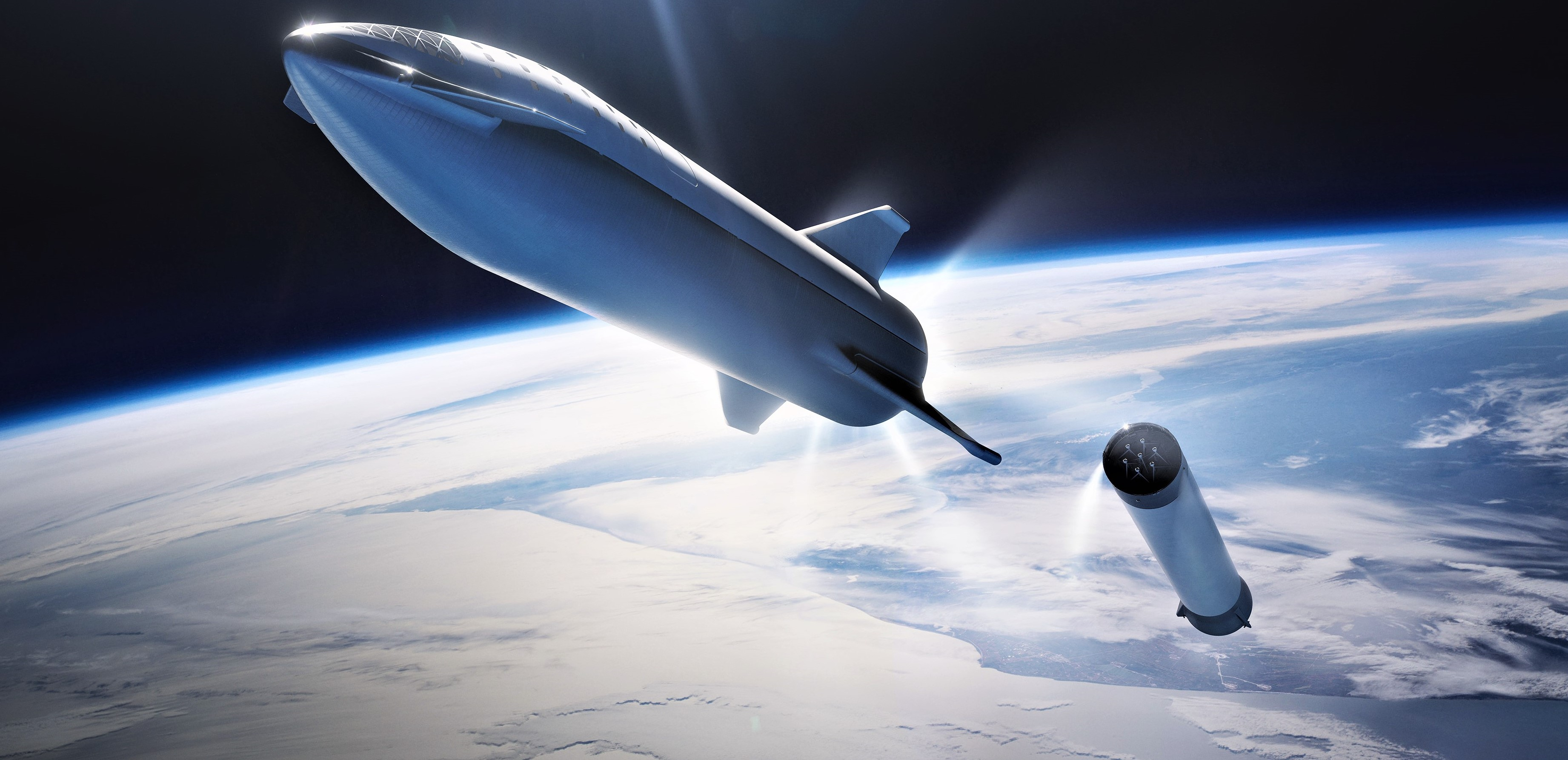 BFR 2018 spaceship and booster sep (SpaceX) 2 crop