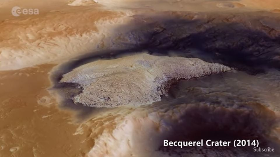 """photo of Europe's space agency releases """"best of Mars"""" video, showcasing 15 years of stunning satellite imagery image"""