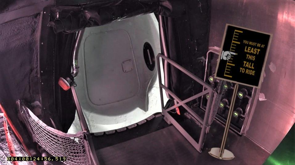 Crew Dragon DM-1 Falcon 9 B1051 CAA inside view (SpaceX)