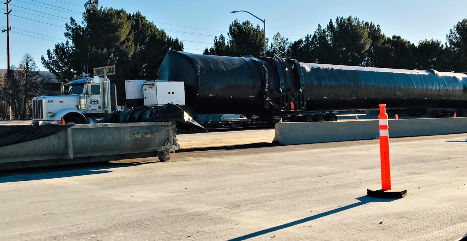 Falcon 9 booster I-5N Valencia CA 012219 (Reddit – intamin1) 2 crop 2