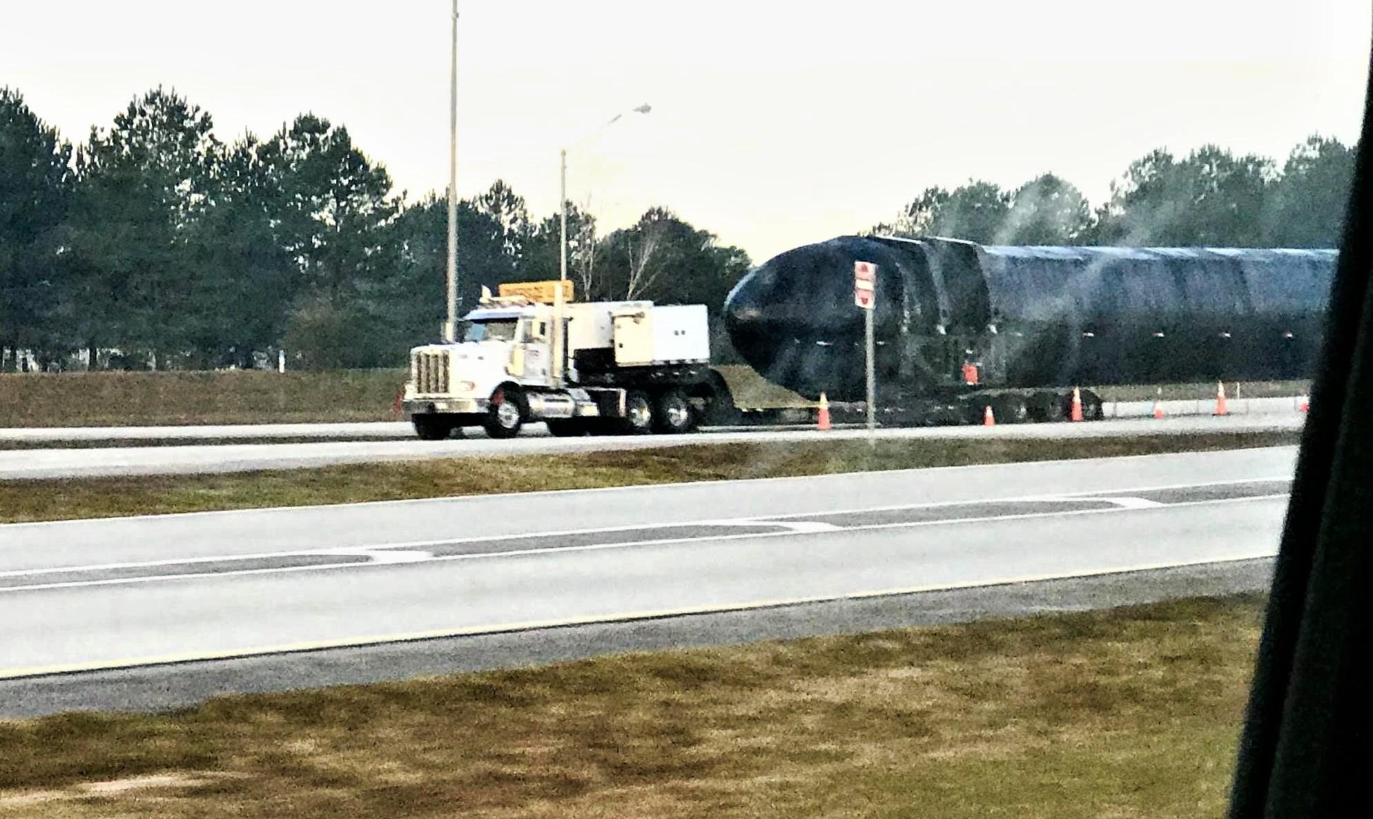 Falcon Heavy booster #2 Pensacola FL 011718 (Joshua Murrah) 2