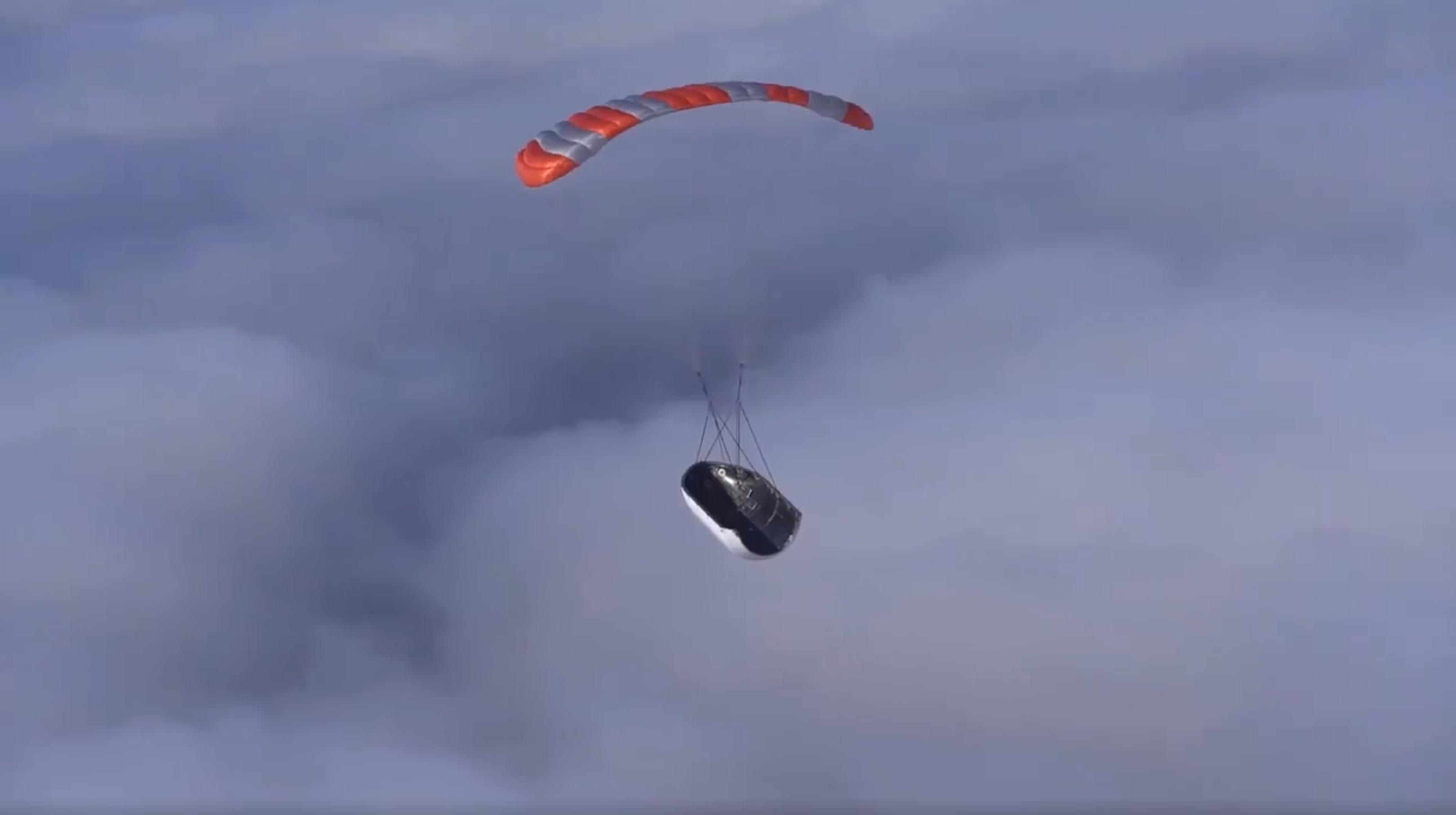 Mr Steven fairing drop test near miss Jan 2019 (SpaceX) 3