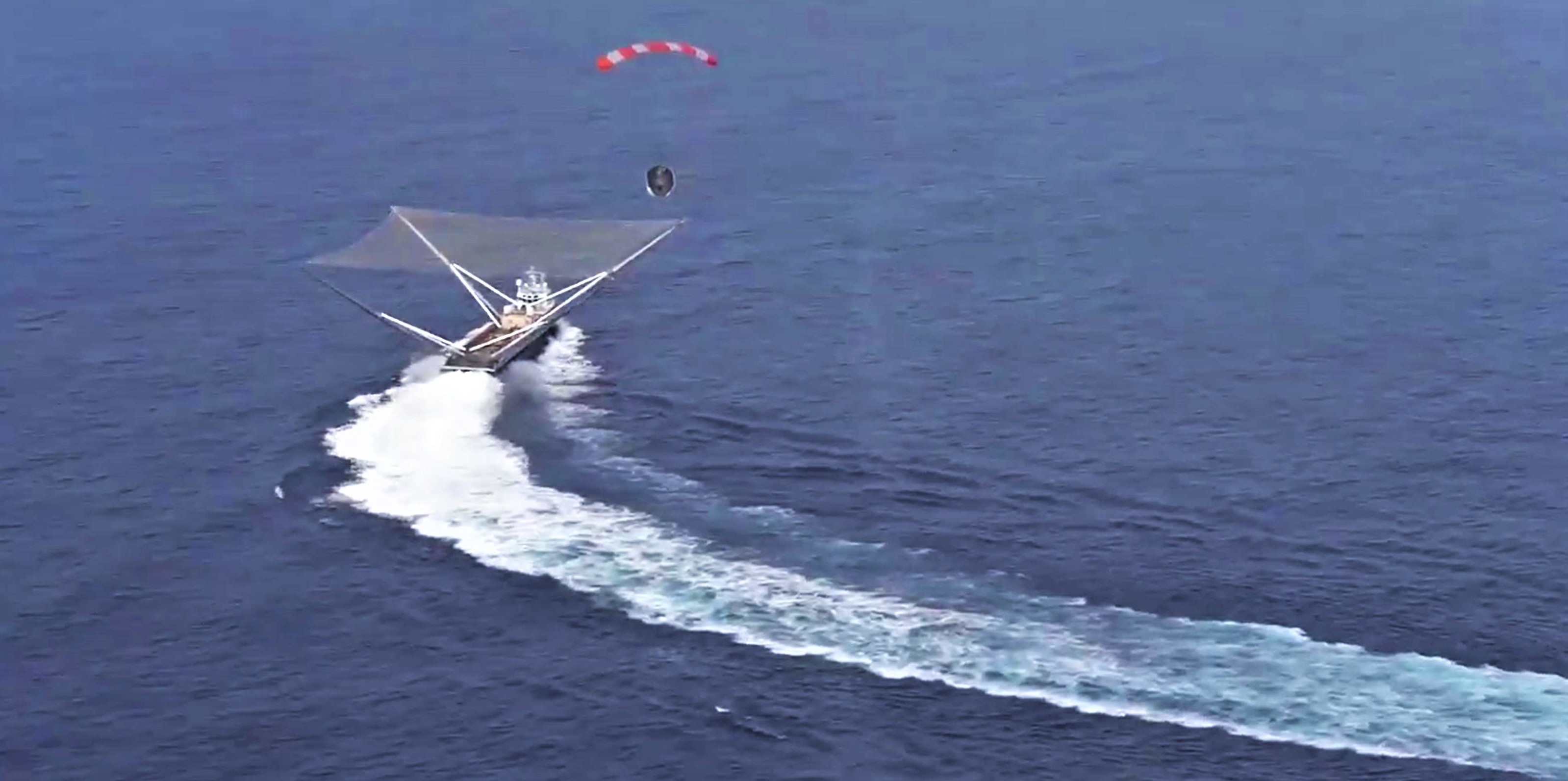 Mr Steven fairing recovery near miss December 2018 (SpaceX) 1