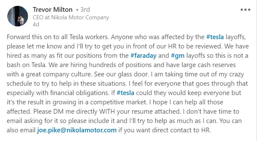 Nikola_CEO_LinkedIn_screenshot