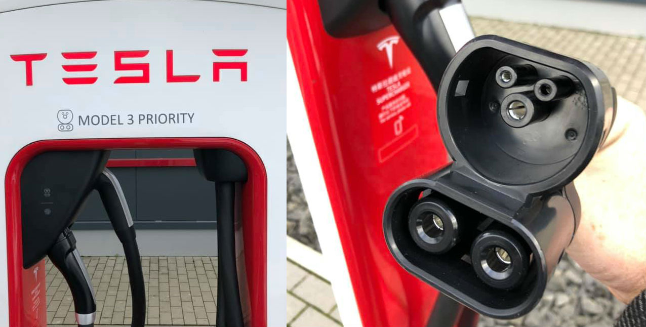 Tesla S Ccs Supercharger Expansion Ramps With Dual Charge Stall